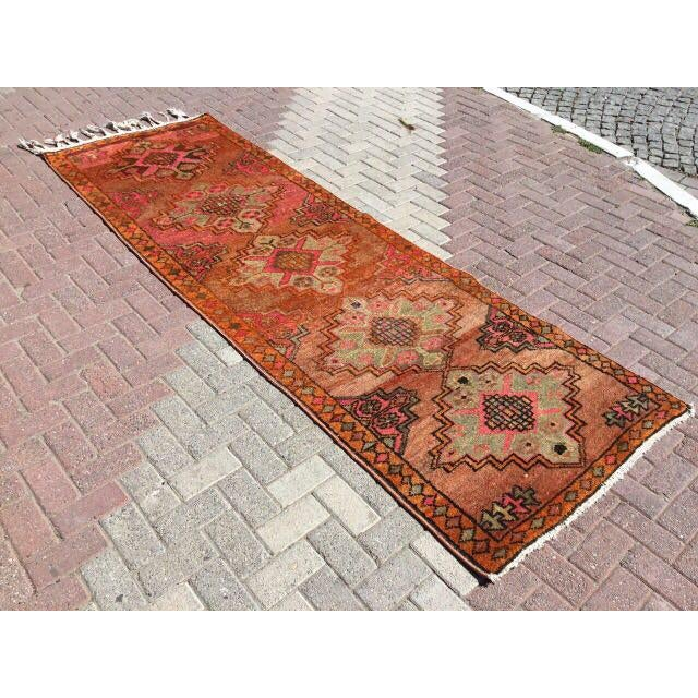 Vintage Turkish Runner Rug - 3′6″ × 10′10″ - Image 3 of 7