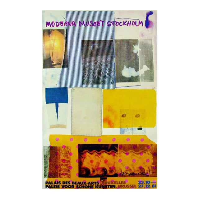 Robert Rauschenberg 1981 Moderna Museet Exhibition Poster Signed For Sale