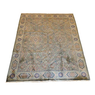 Contemporary Handmade Indian Rug - 8′ × 10′ For Sale