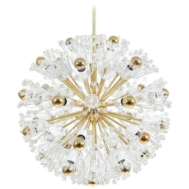 Refurbished Pair Of Large Emil Stejnar Starburst Chandeliers Lamps For Sale - Image 9 of 9