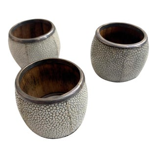 Napkin Rings W/ Silver Rim, Set of 3 For Sale