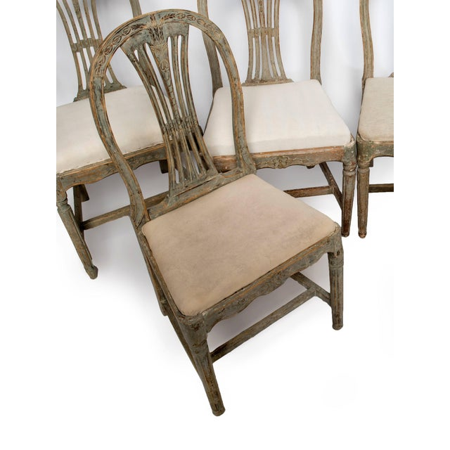 Gustavian (Swedish) Set of Six Gustavian Chairs For Sale - Image 3 of 9