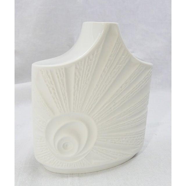 Mid-Century Modern Vintage Mid-Century Bisque Porcelain Vase For Sale - Image 3 of 6