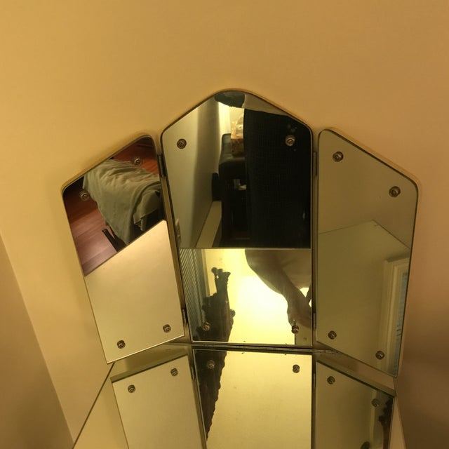 1940s Antique Mirrored Vanity For Sale - Image 10 of 11