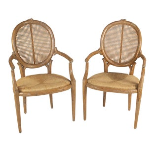 Faux Carved Branch Armchairs - A Pair