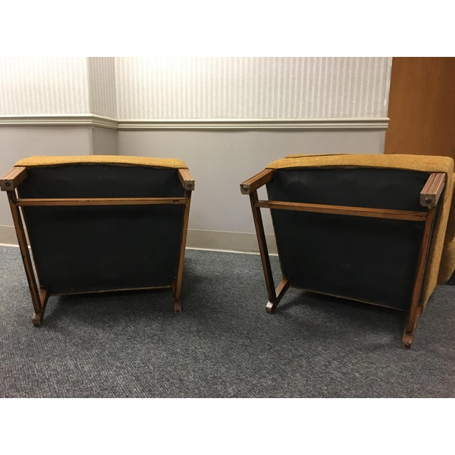 Chippendale W & J Sloane Wingback Chairs - A Pair For Sale - Image 3 of 5