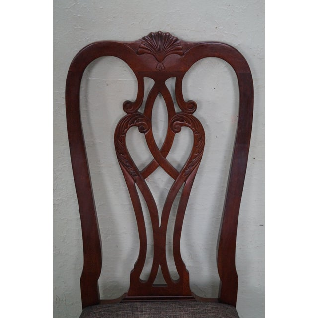 Ethan Allen 18th Century Collection Mahogany Side Dining Chairs - a Pair For Sale In Philadelphia - Image 6 of 10