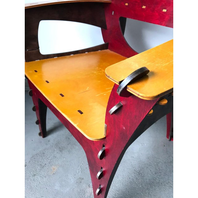 1990s Modern Puzzle Chair by David Kawecki For Sale - Image 5 of 11