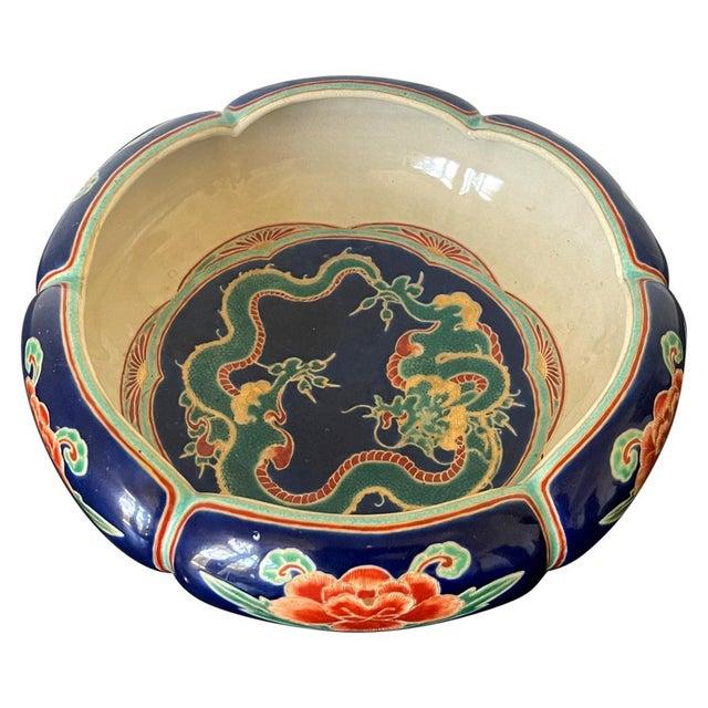 Japanese Ceramic Glazed Bowl Makuzu Kozan Meiji Period For Sale - Image 13 of 13