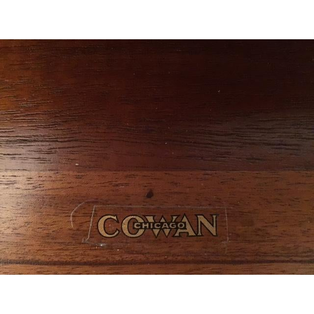 Cowan of Chicago Mahogany Library Table - Image 5 of 11