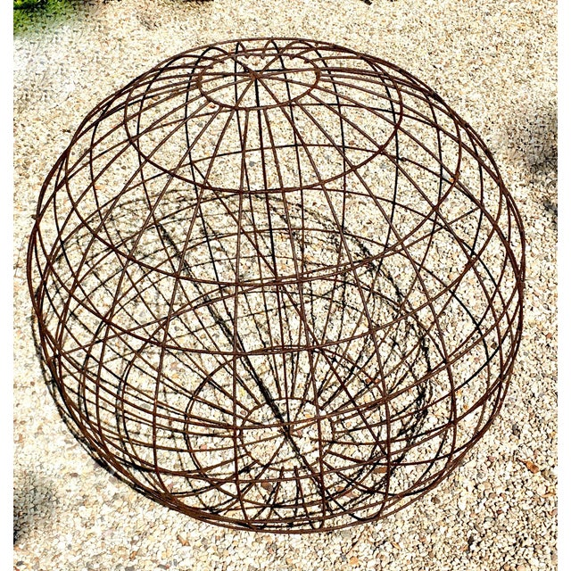 Mid-Century Modern Round Garden Topiary Form For Sale - Image 3 of 3