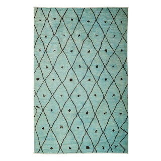 "Moroccan, Hand Knotted Area Rug - 5'10"" X 9'0"" For Sale"