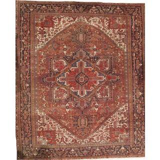 "Pasargad Persian Karajeh Heriz Handmade Hand-Knotted Rug - 11'7""x13'7"" For Sale"