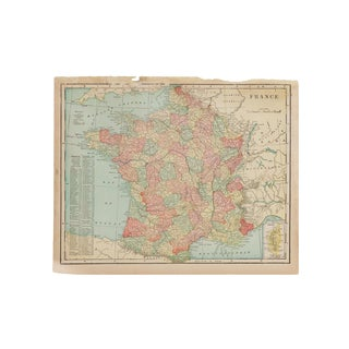 Cram's 1907 Map of France For Sale