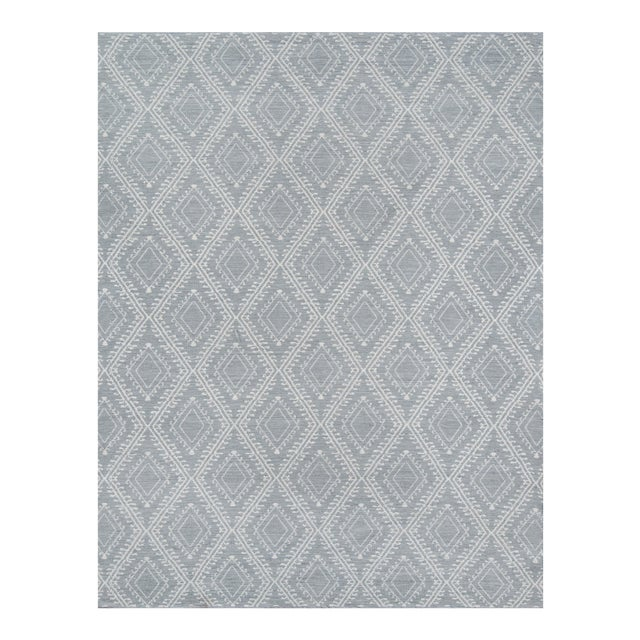 """Erin Gates by Momeni Easton Pleasant Grey Indoor/Outdoor Hand Woven Area Rug - 5' X 7'6"""" For Sale"""