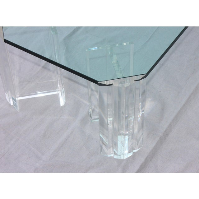 1970s 1970s Modern Lucite Coffee Table For Sale - Image 5 of 9