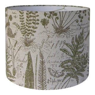 Botanical Patterned Fabric Lamp Shade