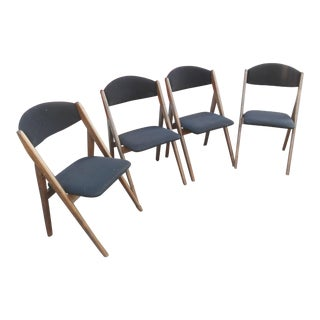 1960s Mid-Century Modern Stackmore Black Velvet Dining Chairs - Set of 4 For Sale