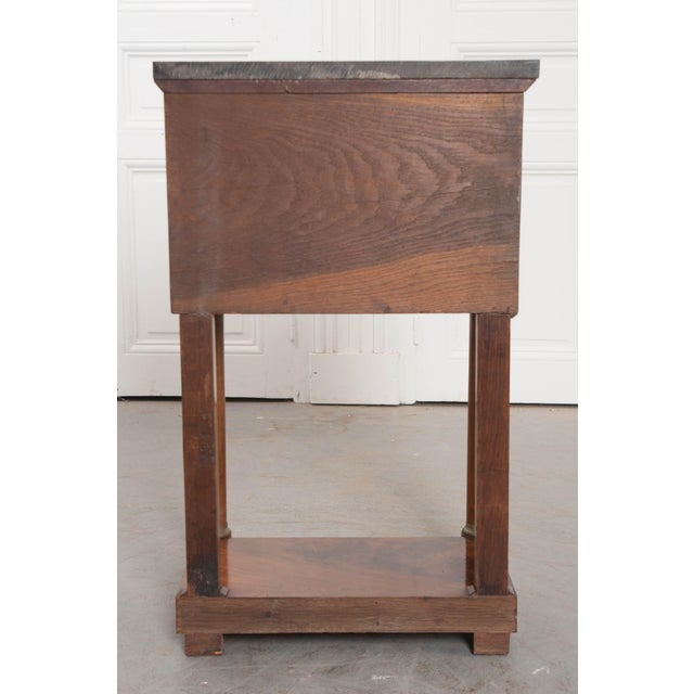 Brown 20th Century French Empire Style Mahogany Bedside Table For Sale - Image 8 of 9