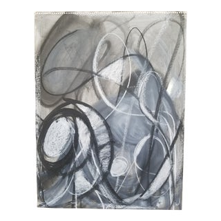 Abstract Black and White Drawing #3 by Terry Frid For Sale