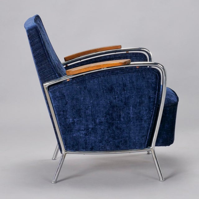 Pair of Bauhaus Steel and Wood Club Chairs For Sale In Detroit - Image 6 of 10