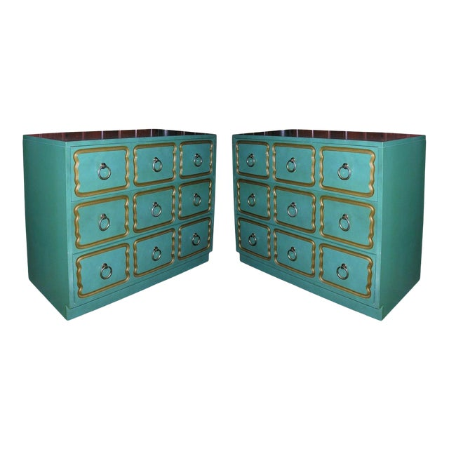 """Classic """"Espana"""" Chests in the Style of Dorothy Draper - A Pair For Sale"""