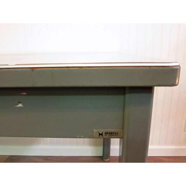 Mid-Century Haskell of Pittsburgh Industrial Table - Image 3 of 9