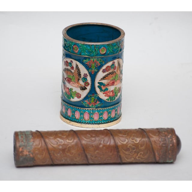 Vintage Peking Brush Pot & Kaleidoscope For Sale - Image 4 of 11