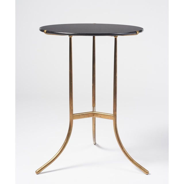 Modern Cedric Hartman Black Granite AE Small Table, 1973 For Sale - Image 3 of 6