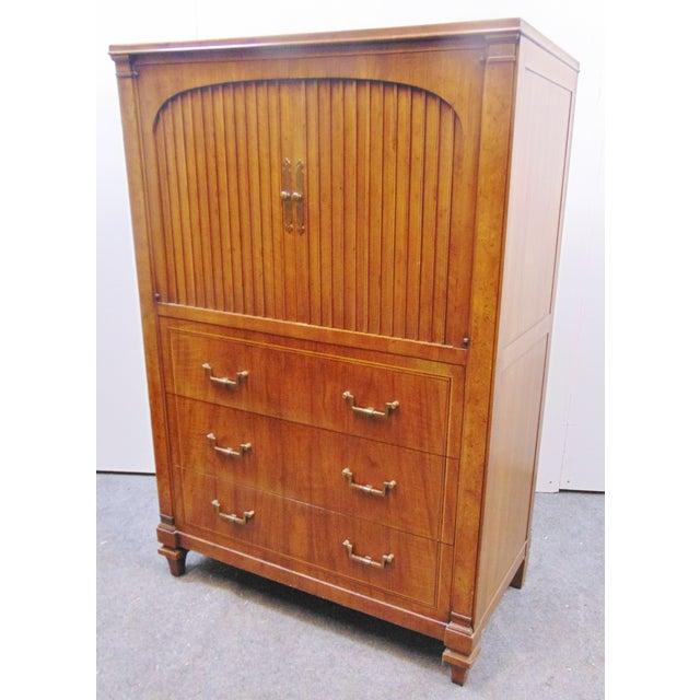 Brown John Widdicomb Mid Century Italian Style Chest For Sale - Image 8 of 9
