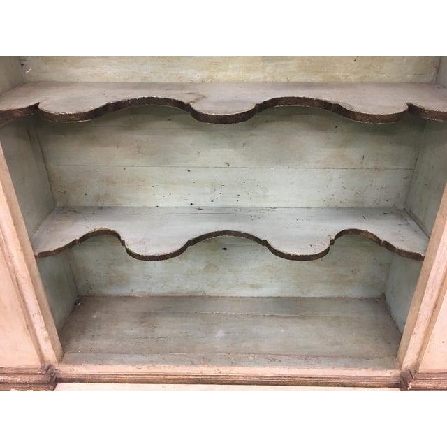Paint 19th Century Italian Tuscan Painted Bookcase Display Cabinet For Sale - Image 7 of 13