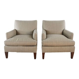 Lee Industries Upholstered Armchairs- A Pair For Sale