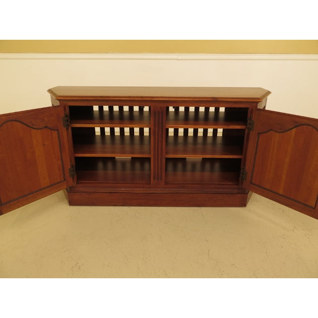 Ethan Allen Ethan Allen 2 Door Cherry Media Cabinet Console For Sale - Image 4 of 13
