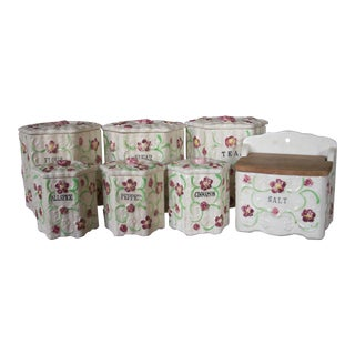 Vintage Japanese Canister Set - Set of 7