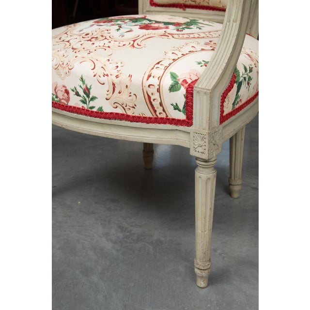 Louis XVI Style Painted Armchairs - a Pair For Sale In West Palm - Image 6 of 13