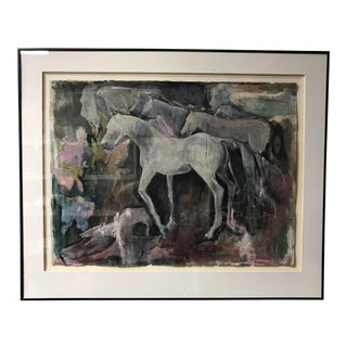Modern Abstract Horse Painting For Sale