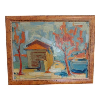 Vintage Mid-Century Large Impasto Abstract Painting For Sale