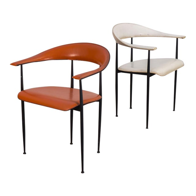 P40 Armchairs by Giancarlo Vegni and Gianfranco Gualtierotti - a Pair For Sale
