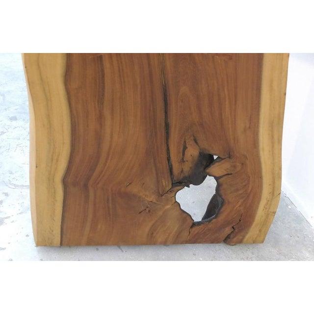 Guarapa Wood Console Table by Brazilian Contemporary Artist Valeria Totti For Sale - Image 9 of 11