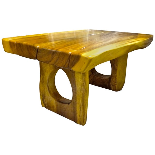 Brutalist Superb Sturdy Organic Solid Wood Table For Sale - Image 3 of 3
