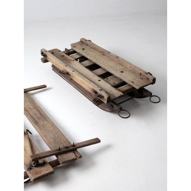 Iron Antique Primitive Sled For Sale - Image 7 of 13