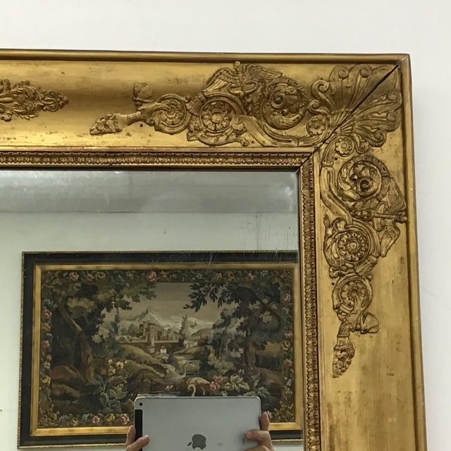 Wood French Empire Style Giltwood Mirror For Sale - Image 7 of 9