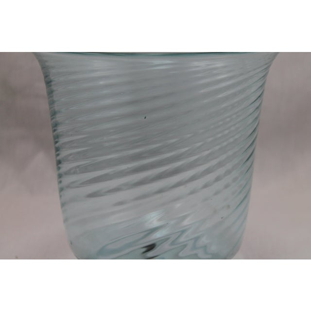 Art Deco Era Steuben Glassworks Baby Blue Translucent Swirl Bowl - Image 5 of 8