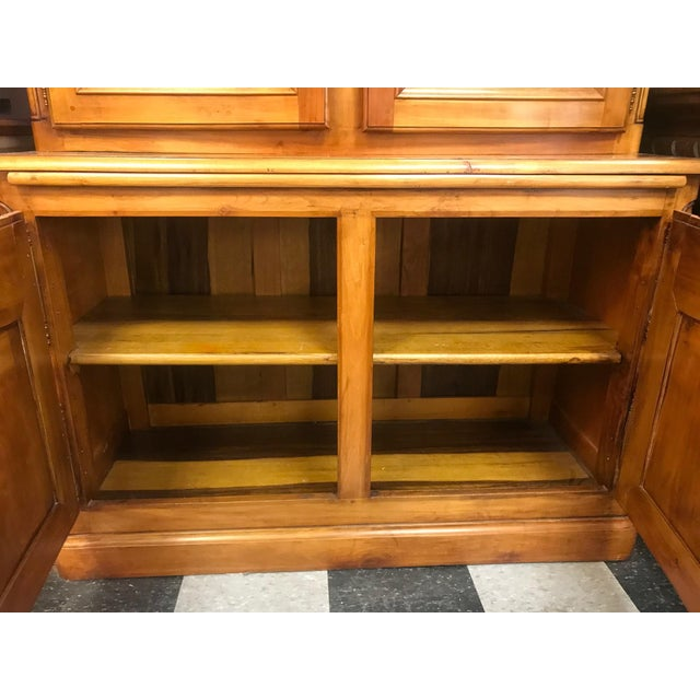 French Cherrywood & Glass Bookcase - Image 10 of 10