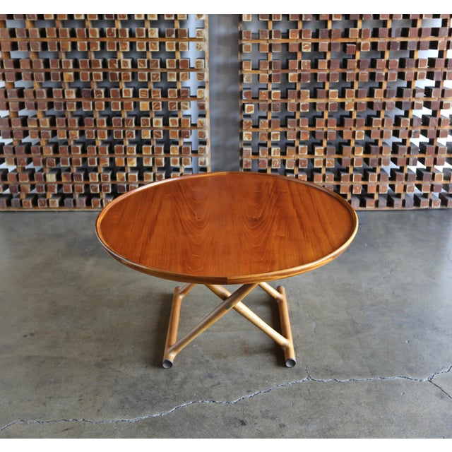 Danish Modern Large Egyptian Table by Mogens Lassen for A.J. Iversen Circa 1955 For Sale - Image 3 of 13