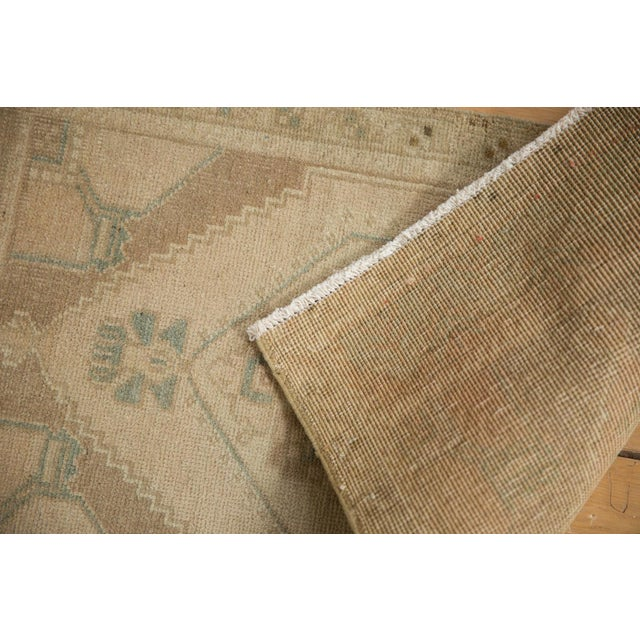 "Cottage Vintage Distressed Oushak Rug Mat - 1'7"" X 3' For Sale - Image 3 of 6"