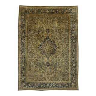 Antique Persian Kerman with Hollywood Regency Style