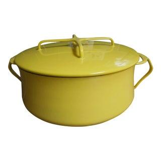 Vintage Yellow Dansk Pot