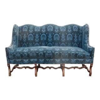 French Baroque Walnut Os De Mouton Sofa
