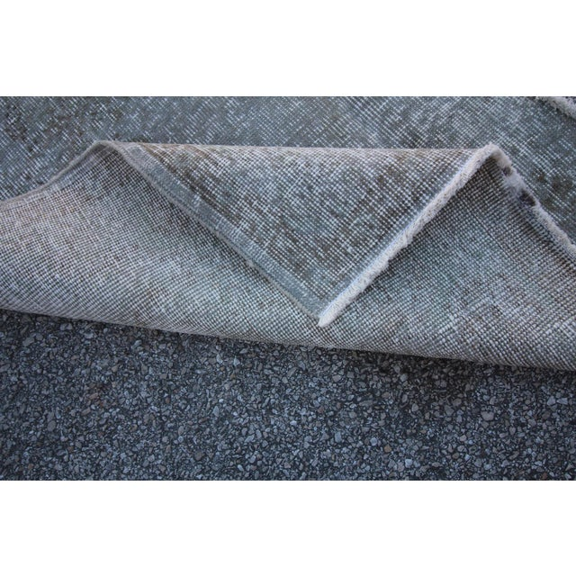 "Vintage Gray Overdyed Rug - 4'2"" X 7' For Sale - Image 4 of 4"